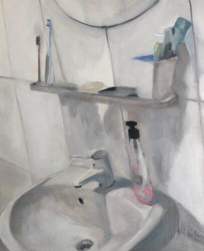 Johanne s Sink  oil on canvas paper, 50 x 40cm