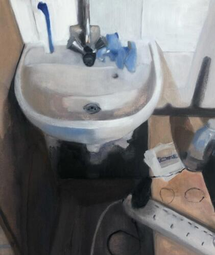 Niam s Sink   oil on canvas paper, 50 x 40cm